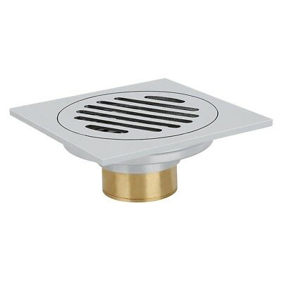 Stainless steel floor drainage shower bath odor trap shower drain 10 x 10cm E3S6