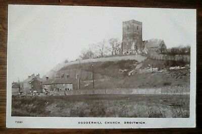 Dodderhill Church Droitwich Worcester' 1909 Real photo Kingsway postcard T091