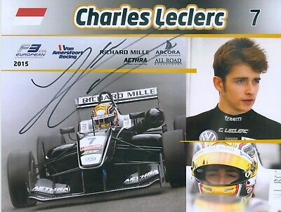 Charles Leclerc - Great 100 % Orig Signed Card