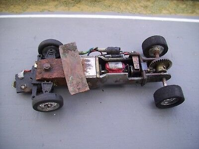 1960's MRRC Airfix chassis - 3 pole motor - Bevel gears - Supershells wheels