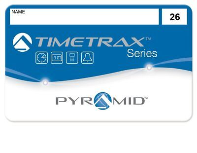 Pyramid employee swipe cards numbered 26-50 for Pyramid TimeTrax TTEZ, TTEZEK,