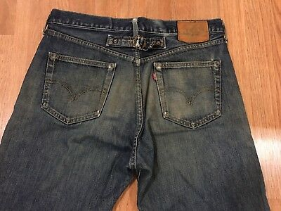Vtg Levis 702 Big E  LVC Buckle Back Hidden Rivet Redline Selvedge Jeans W34 L29