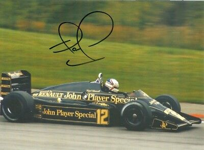 Nigel Mansell - Great 100 % Orig Signed Card - Lotus - Limited Edition - Rare