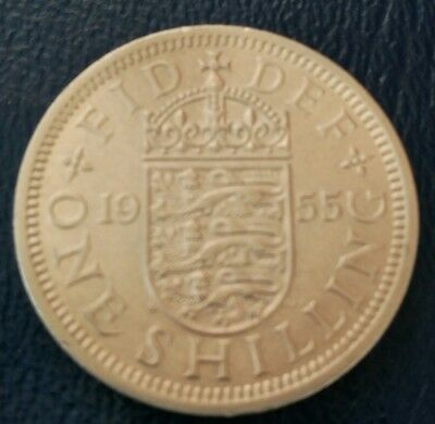 1955  Elizabeth II English One Shilling Coin (very nice condition)