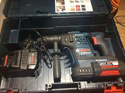 new Bosch SDS GBH 36 VF-LI Plus Rotary Hammer Drill With Charger Box + Bat