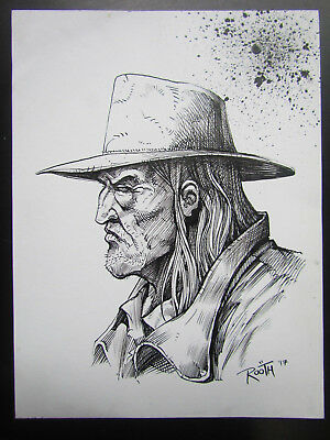 Mike Rooth Original Art / Sketch  - Saint Of Killers - Preacher - No Reserve!