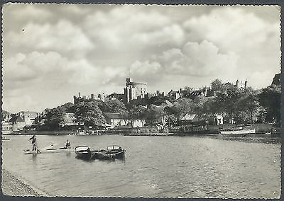 Vintage Photo Precision RP Windsor Castle from the Thames no 9927  People Punts
