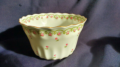 George Jones Crescent China Slop Bowl Rosebuds & Foliage  Made For Harrods