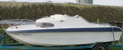 Fast Fishing Boat 18Ft With 2 Berth Cabin No Reserve Project Boat Only