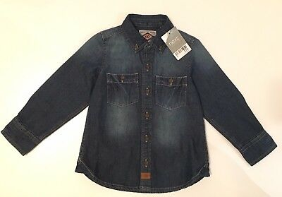 Bnwt Next Baby Boys Denim Long-Sleeved Smart Shirt - 18-24 Months