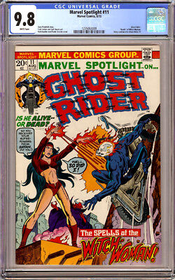 Marvel Spotlight #11 Cgc 9.8 White Pages Ghost Rider 1973