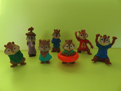 McDonald's Alvin and Chipmunks 2009, 2011 Happy meal Toys Set of 7 Toys All work
