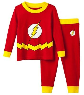 NWT DC Comics The Flash 2-Piece Pajama Set Boys Sizes 4, 8