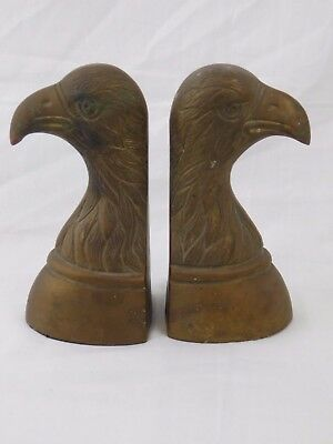 Vintage Eagle Heavy Brass Book Ends MADE IN KOREA