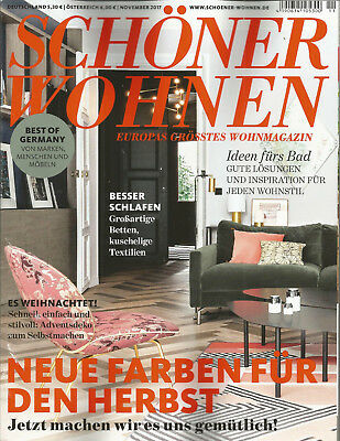wohnen garten ausgabe november 2017 eur 1 00. Black Bedroom Furniture Sets. Home Design Ideas