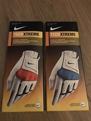 Nike Tech Xtreme Golf Gloves - MLH ML - New - 2 Gloves For Right Handed Golfer