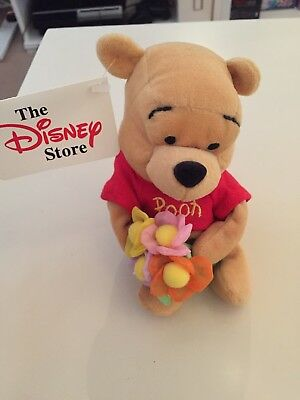 "Disney Mother's Day Pooh. 8"" Retired Beanie. BNWT"