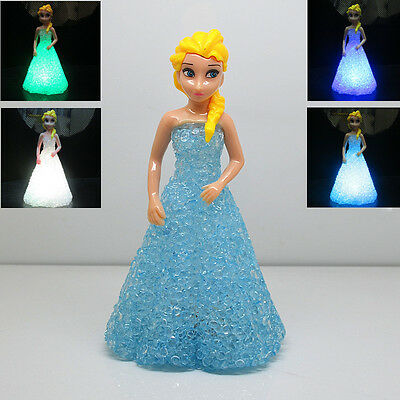 Cute Frozen Princess Figures Color Changing Night Light Kids Boy Girl Toy Gift A