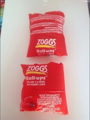 zoggs roll ups swim armbands age 1-6 years