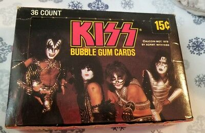 Super Rare Kiss Donruss 36 Pack Box Series I 1978 New