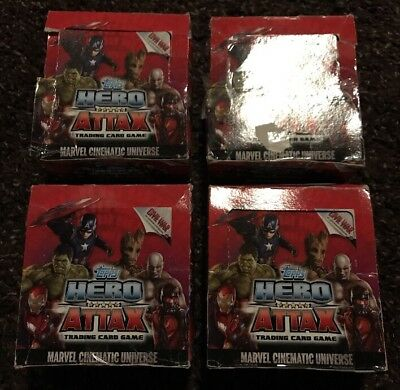 Hero Attax Marvel Cinematic Universe / 4x 50 Booster a 5 Cards / 1000 Karten !!!