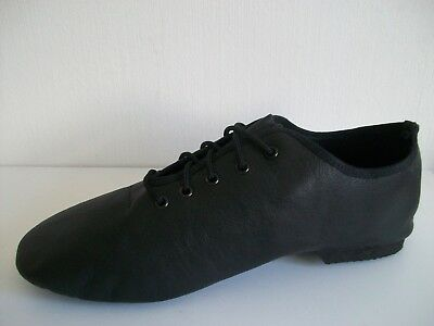 Tappers and Pointers black leather split soled jazz shoes 9 UK - 43 EU