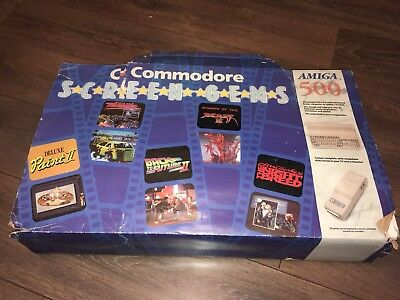 Commodore Amiga 500 Screen gems (complete set) 💎 with 512KB RAM expansion