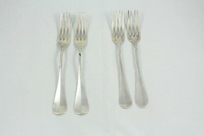 Four Antique German 800 Silver Dinner Forks Bruckmann & Sohne