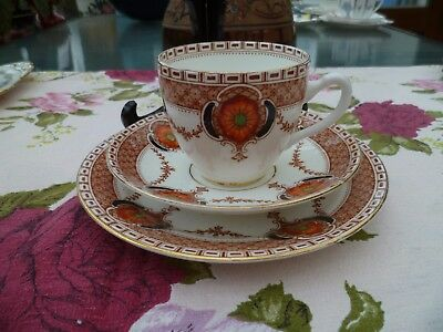 Vintage English Doric China Trio Tea Cup Saucer Plate