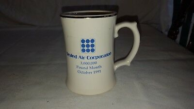 Sealed Air Corporation Coffee Mug Cup October 1991 3,000,000 Lb Month Made Usa