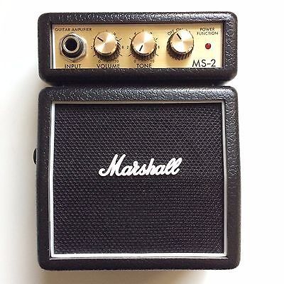 MARSHALL MS-2 mini electric guitar amplifier amp (black)