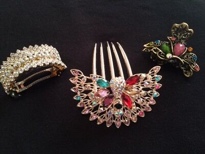 Beautiful Vintage Hair Accessory Lot - 3 Pieces  - 2012