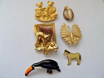 Joblot #5 Collection Of Vintage Brooches & Pendant