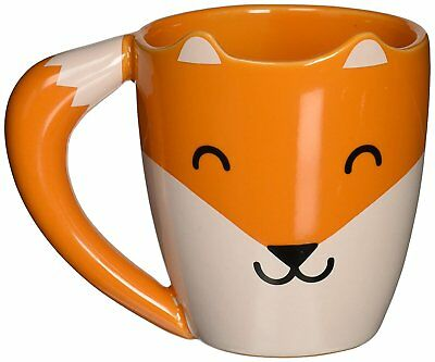 Thumbs Up! Fox Mug Tazza Ceramica Bianco E Arancio
