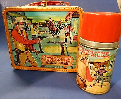 Vintage Gunsmoke Lunchbox with Thermos Great Condition 1959 Aladin