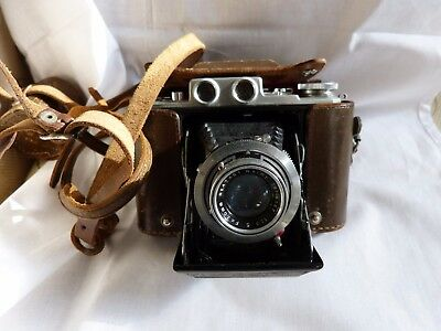 Vintage Welmy 6x6 folding bellows camera for display or props