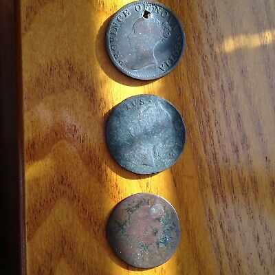 Group of 3 Old Foreign Coins