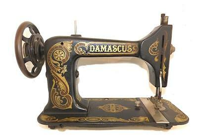 Antique Damascus Treadle Sewing Machine Head  - Very Good Decoration & Condition