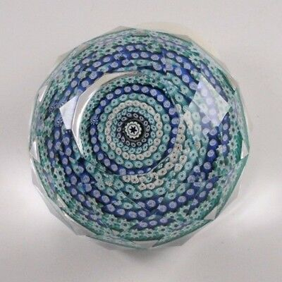 Vintage Whitefriars Paperweight Millefiori Concentric Faceted Cane Dated 1978