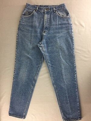 "Vintage Lee Jeans Acid High Waist Relaxed Taper Leg USA Women 14 M Tag 30""x30"""