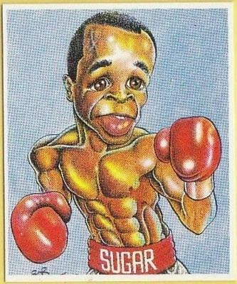 Sugar Ray Leonard Boxing Card - 1992 Brindley World Boxers