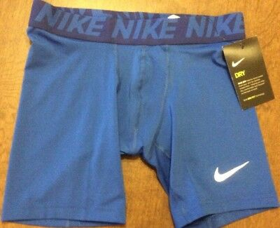 Nike Boy's Dri Fit Compression Shorts Youth Large Blue 810490 NWT