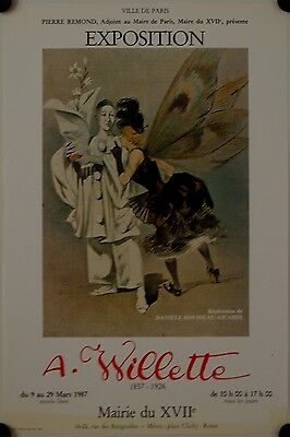 Affiche A. WILLETTE 1987 Exposition Paris