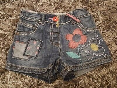 next baby girls denim shorts 18-24 months