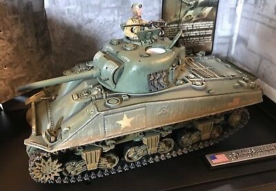 """RETIRED"" Forces Of Valor U.S. M4A3 SHERMAN TANK (NORMANDY 1944) In Original Box"
