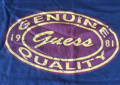 Vintage GUESS Jeans Men's T-Shirt YOUTH MEDIUM 12-14 Woman's Small? EUC USA