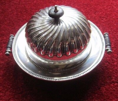 Edwardian Silver Plated Muffin Dish Hot Water Serving Dish