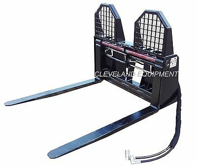 """New 48"""" Hydraulic Adjusting Pallet Forks & Frame Attachment - 6,000# Capacity"""