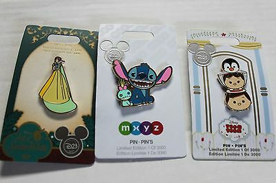 D23 Expo 2017 Stitch, Snow White, Mary Poppins Exclusive LE Pins