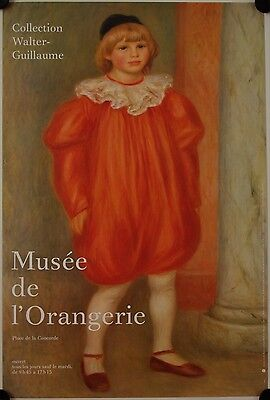 Affiche Collection Walter-Guillaume RENOIR Musée Orangerie - Paris
